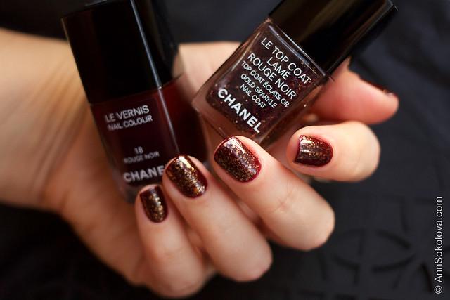 03 Chanel Le Top Coat Rouge Noir and Chanel 18 Rouge Noir
