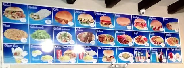 Cappeodocie restaurant chamonix wall menu