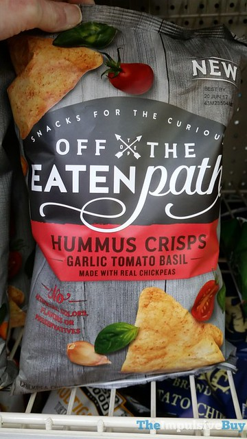 Off The Eaten Path Garlic Tomato Basil Hummus Crisps