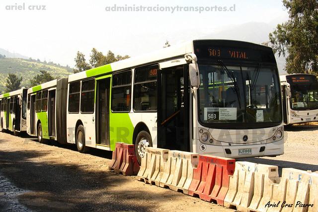 Transantiago - Metbus - Caio Mondego HA / Mercedes Benz (BJFH68)