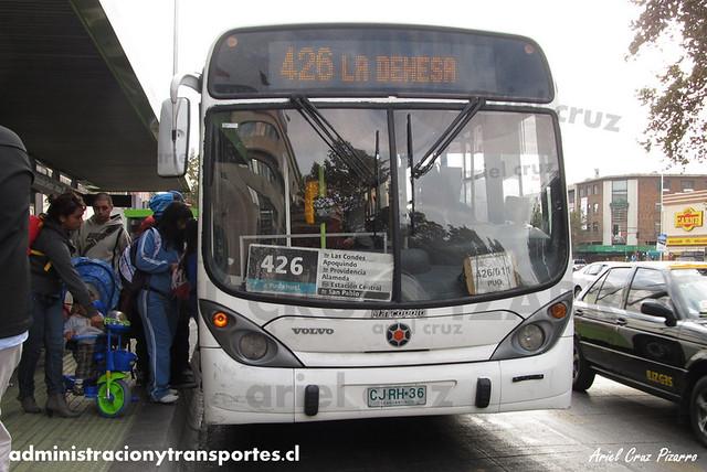 Transantiago - Express de Santiago Uno - Marcopolo Gran Viale / Volvo (CJRH36)