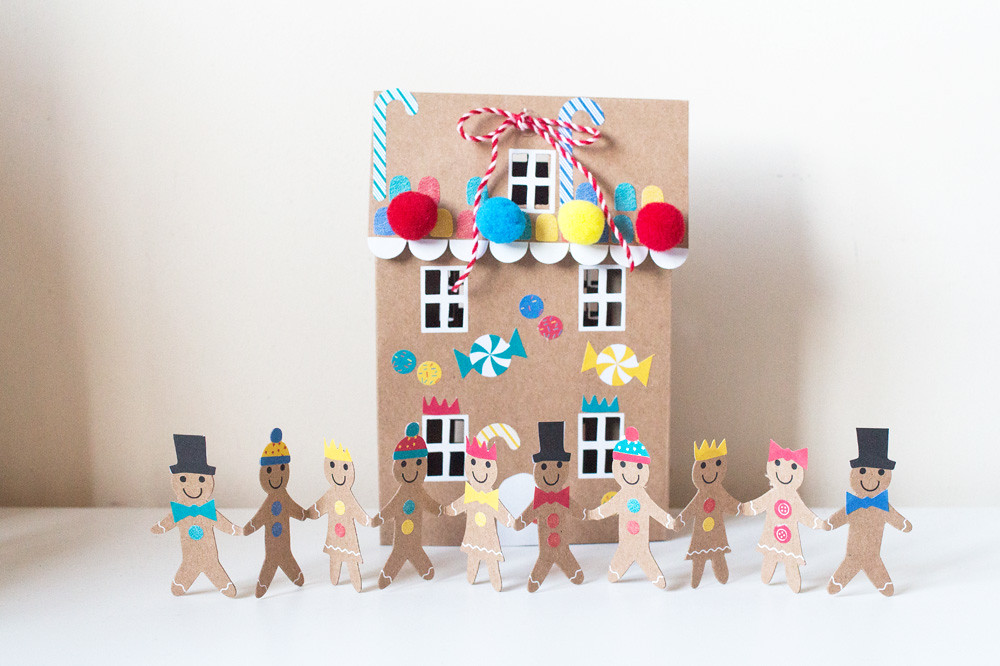 Meri Meri Gingerbread men card