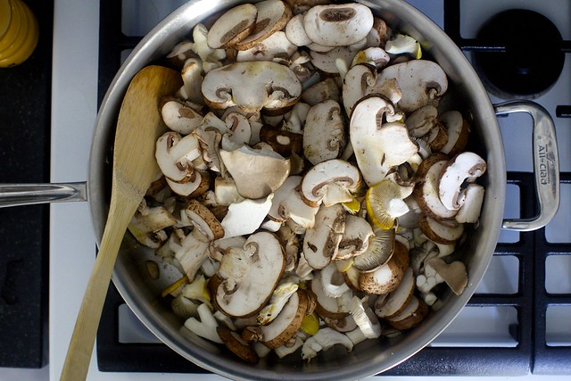 cook the mushrooms down