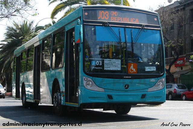 Transantiago - Metbus - Caio Mondego H / Mercedes Benz (CJRZ79)