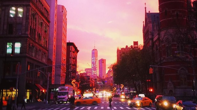 #nyc #weatvillage #manhattan #sunset