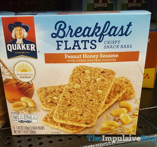 Quaker Peanut Honey Sesame Breakfast Flats