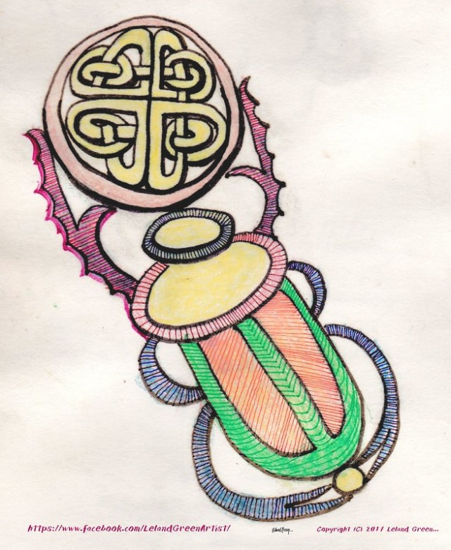 Psychedelic Celtic & Egyptian design