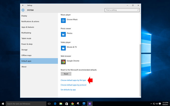 How to customize default app in Windows 10-3