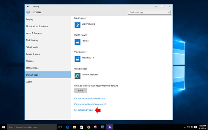 How to customize default app in windows 10-7