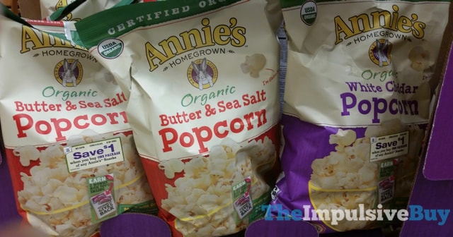 Annie's Organic Butter & Sea Salt and White Cheddar Popcorn