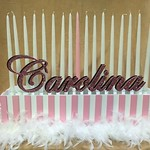 Sweet 16 and Victoria's Secret all in one piece! #balloons #balloondecorating #lotparty.com #victoriassecret #victoriasecret #sweet16 #candlepiece #candelabra