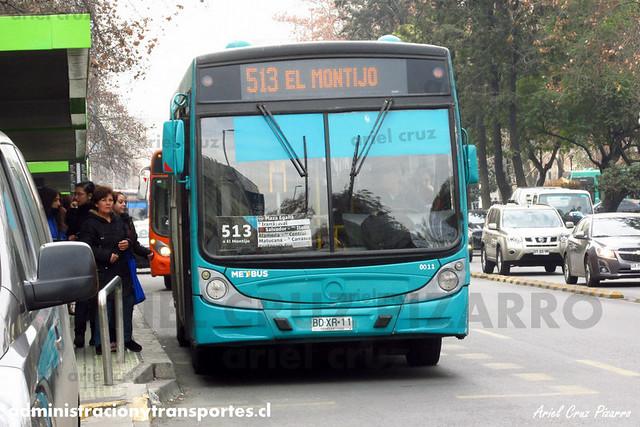 Transantiago - Metbus - Caio Mondego H / Mercedes Benz (BDXR11)