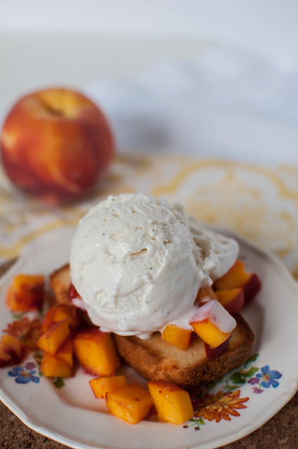 Pound Cake and Peaches Sundae 2