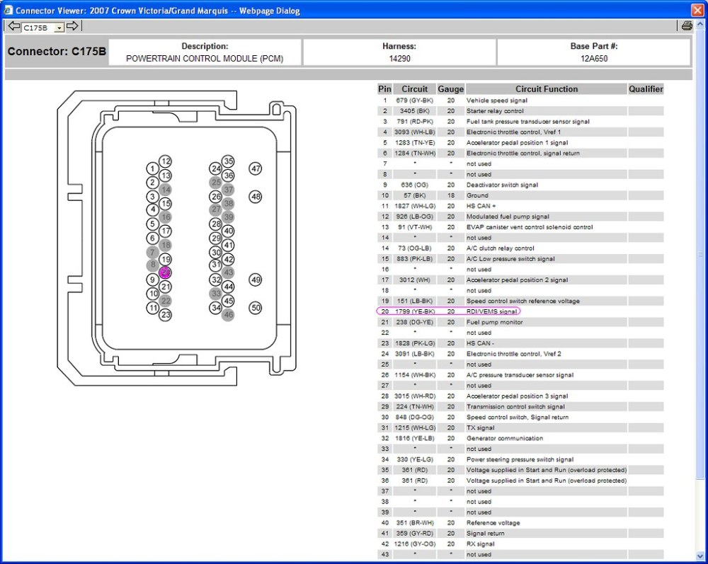 medium resolution of ford pcm wiring diagram