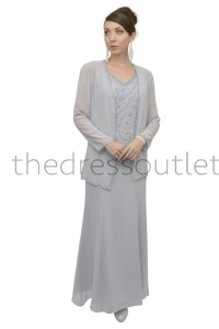 Classic Elegant Mother of Bride Groom Long Formal Gown ...