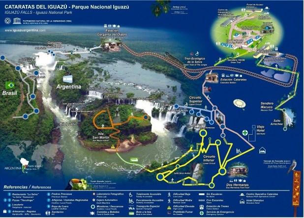 Mapa Cataratas Iguazu