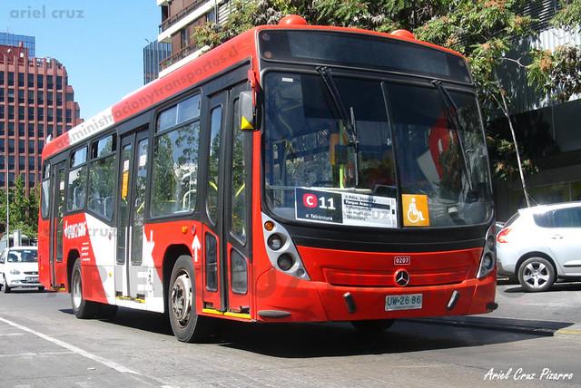 Transantiago - Redbus Urbano - Neobus Mega Low Entry / Mercedes Benz (UW2686) (207)