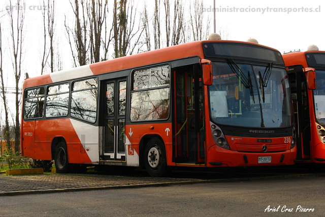 Transantiago - Redbus Urbano - Neobus Mega LE / Mercedes Benz (MY3913) (230)