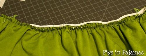 Colette Moneta waist elastic before overlock