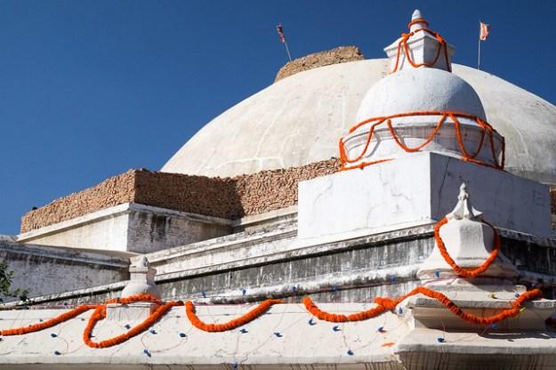 Boudhanath stupa... after the earthquake
