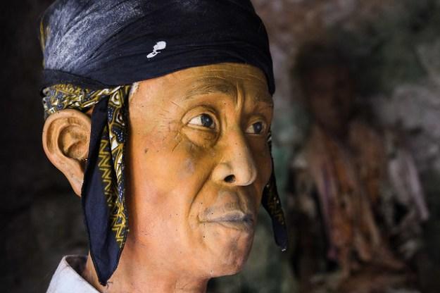Lifelike effigy. Tana Toraja