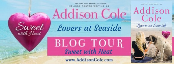 lovers at seaside book tour badge