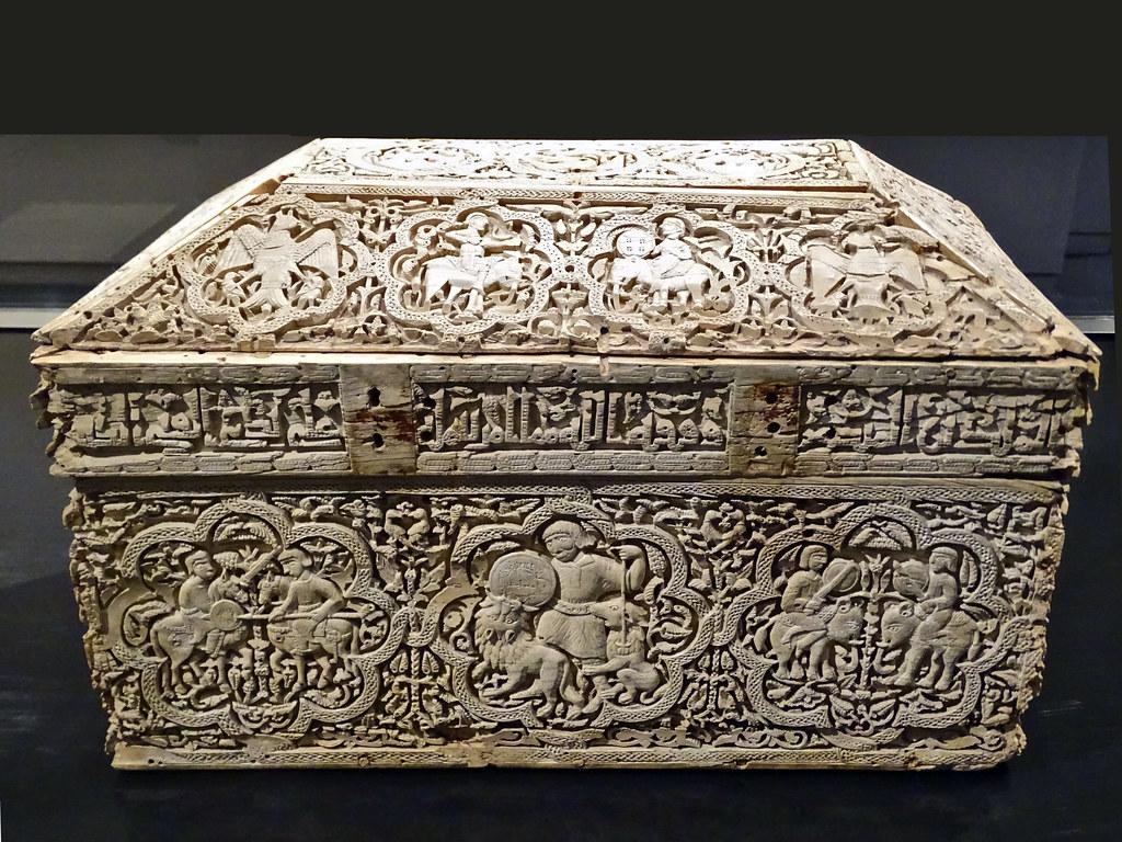 Arqueta de marfil hispano arabe Museo de Navarra Pamplona 02
