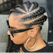 lovely creative braided hairstyle
