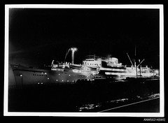 MV SKAUBRYN berthed at night, possible at Kiel, Germany