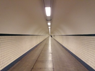 Pedestrian tunnel under the Scheldt