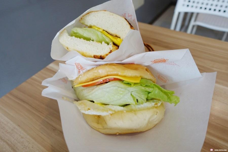 King Burger,國王吉士厚切牛肉堡,國王漢堡,早餐店,桃園美食,火腿蛋土司,燒餅蛋潛艇堡,肉鬆乳酪餅,陽明公園 @VIVIYU小世界