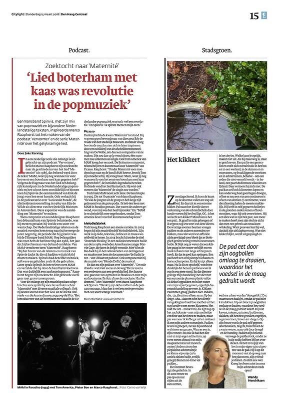 Artikel over mijn podcast VERVORMER in Den Haag Centraal