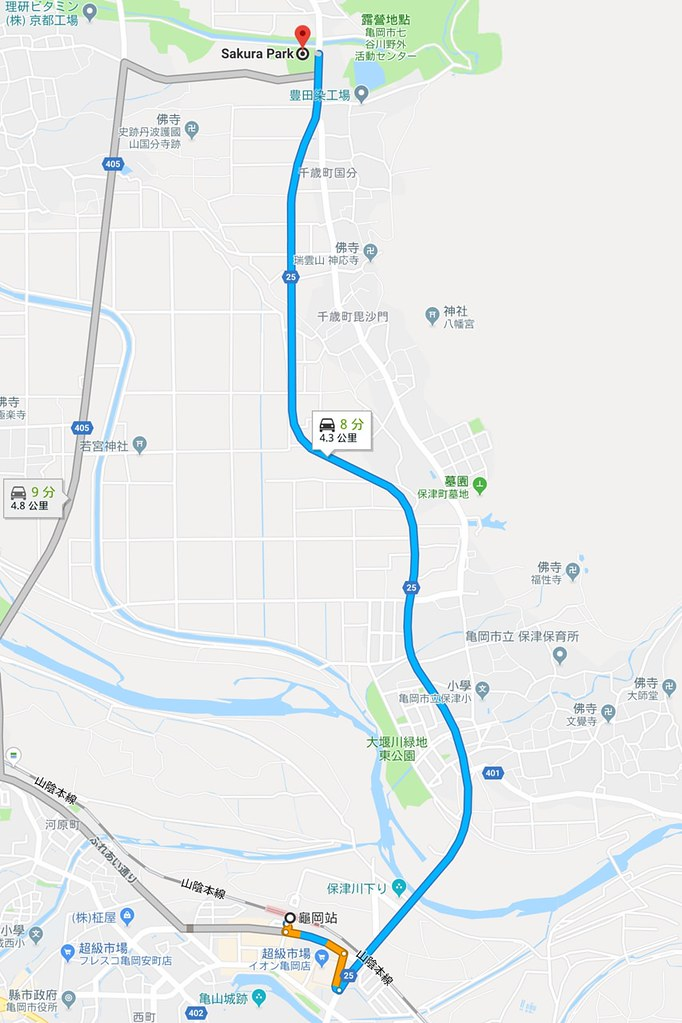 《京都賞櫻景點》七谷川柔和之道:2018龜岡賞櫻專車啟航