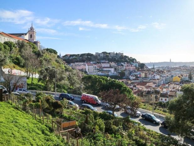 Mirador Santa Clara en Lisboa
