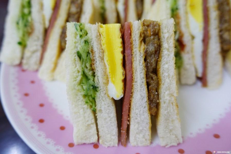 [八德美食]挑嘴貓漢堡~廣豐新天地附近的早餐店.總匯三明治、甘梅蘿蔔糕價格便宜現點現作 @VIVIYU小世界