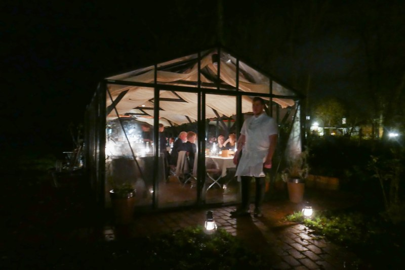 Nightcap and mignardises in the greenhouse
