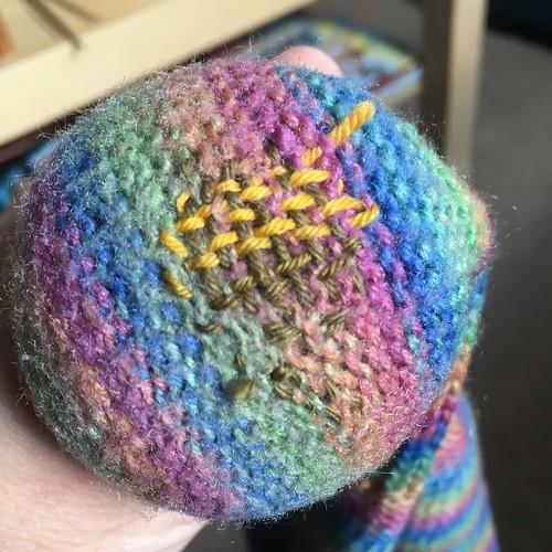 Knitting and darning