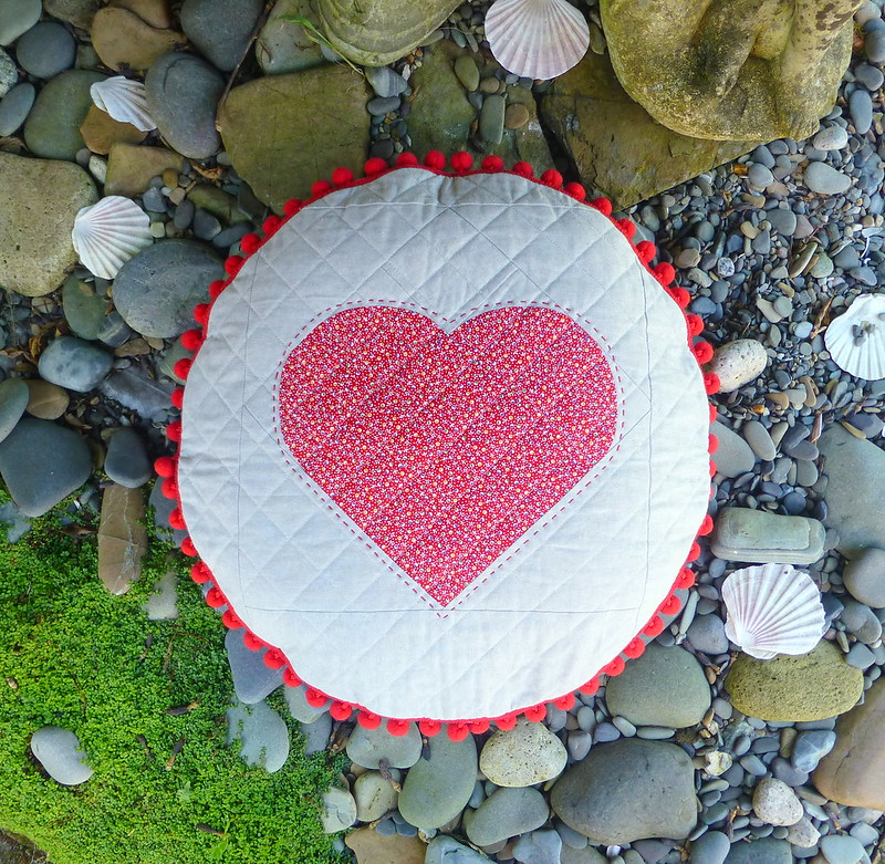 In The Round Heart DP Cushion (Class project)