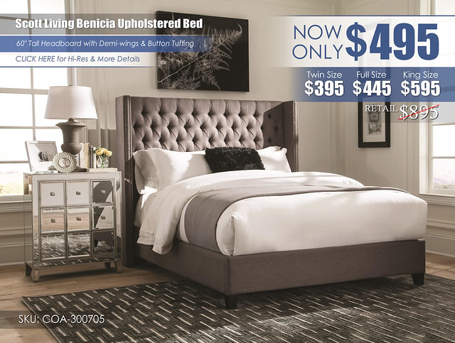 Scott Living Benicia Upholstered Bed