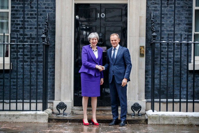 President Tusk meets Theresa May, UK Prime Minister