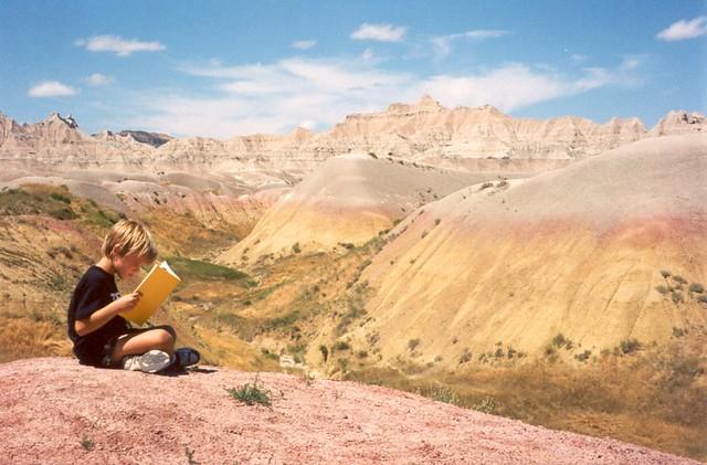 Sam Reading in Badlands