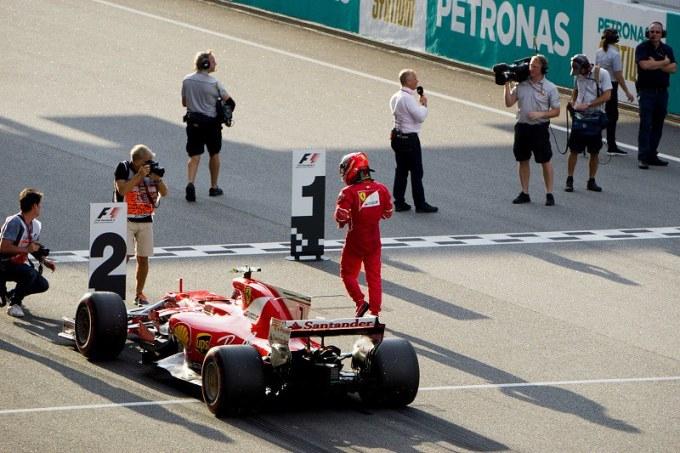 171028 マレーシアGP予選2位のフェラーリ・キミライコネン