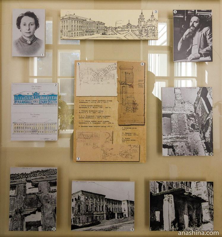 Стенд, посвященный истории усадьбы Гончаровых в Полотняном заводе