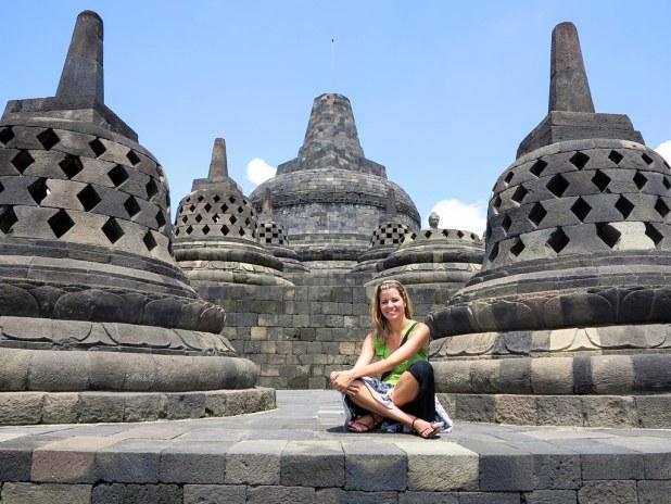 Estupas en Borobudur
