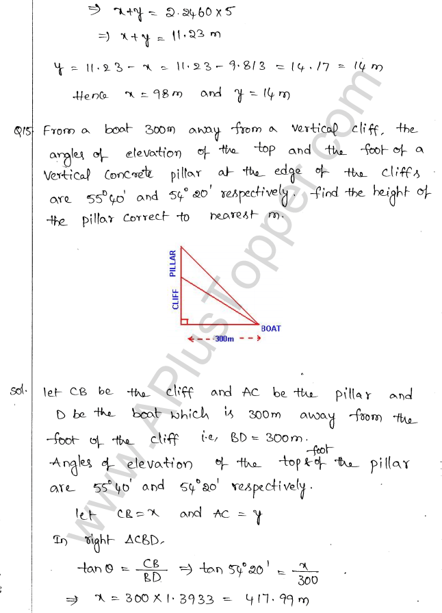 ml-aggarwal-icse-solutions-for-class-10-maths-chapter-21-heights-and-distances-14