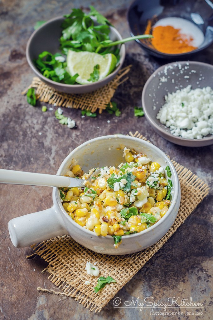 Esquites is a Mexican street food and a corn salad.  It is quick & easy  under 15 minutes recipe.