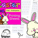 Easter Printing Sheets for PreK-Kindergarten