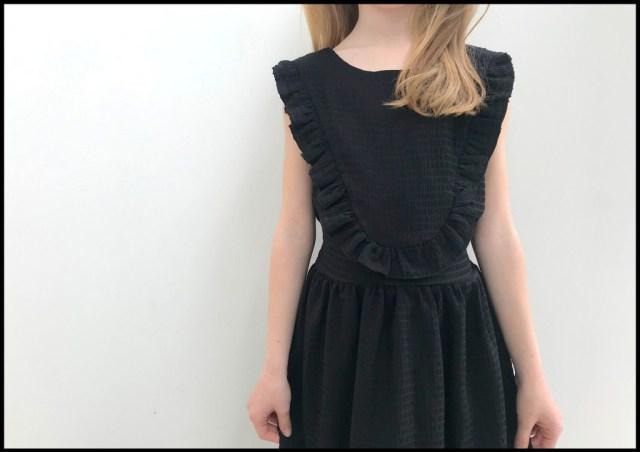 little black robin dress