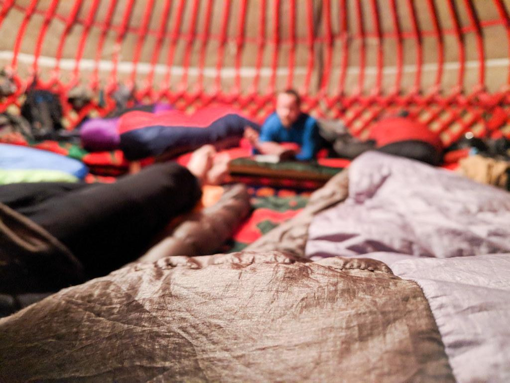 Ak-Suu yurt lodge lounging