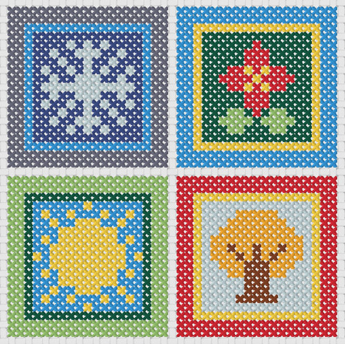 Free Printable Christmas Ornament Cross Stitch Patterns